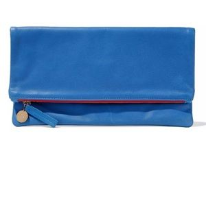 Clare V Fold Over Clutch in Blue